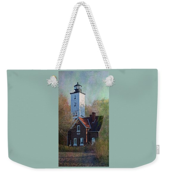 Presque Isle Lighthouse Weekender Tote Bag