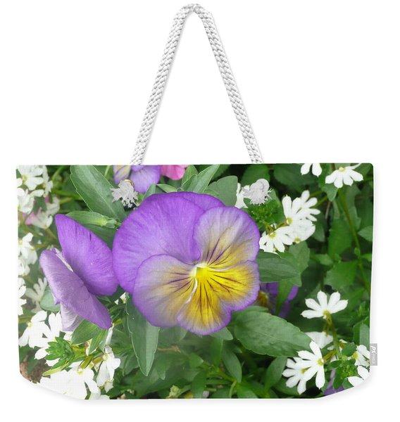 Pretty Pansy Weekender Tote Bag