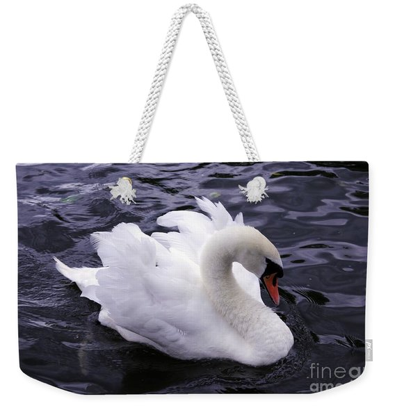 Weekender Tote Bag featuring the photograph Pretty Swan by Jeremy Hayden