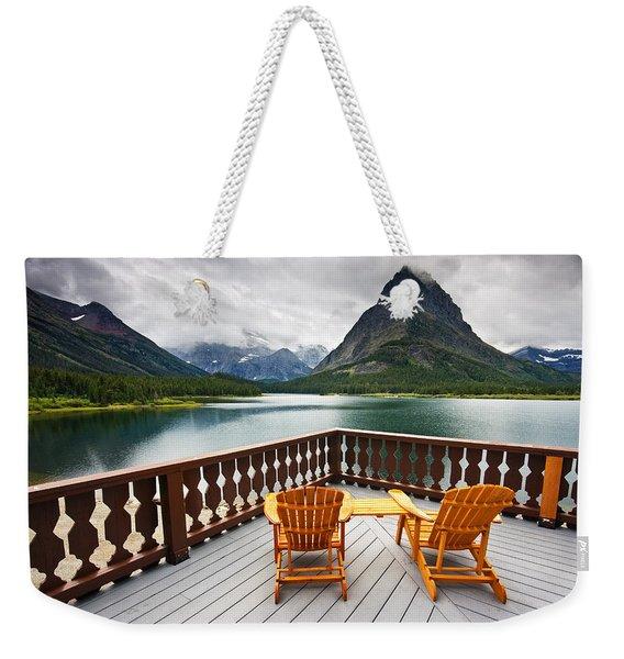 Priceless Glacier View Weekender Tote Bag