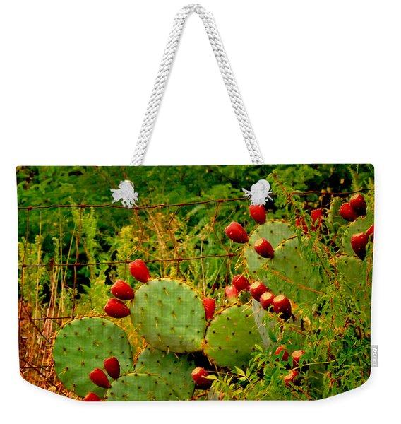 Prickly Pear Cactus Weekender Tote Bag