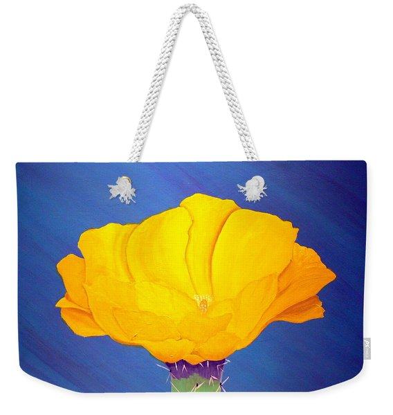 Prickly Pear Flower Weekender Tote Bag