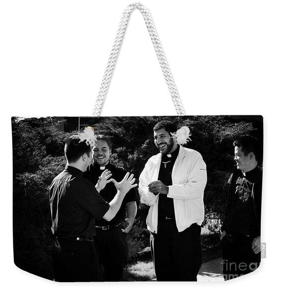 Priest Camaraderie Weekender Tote Bag
