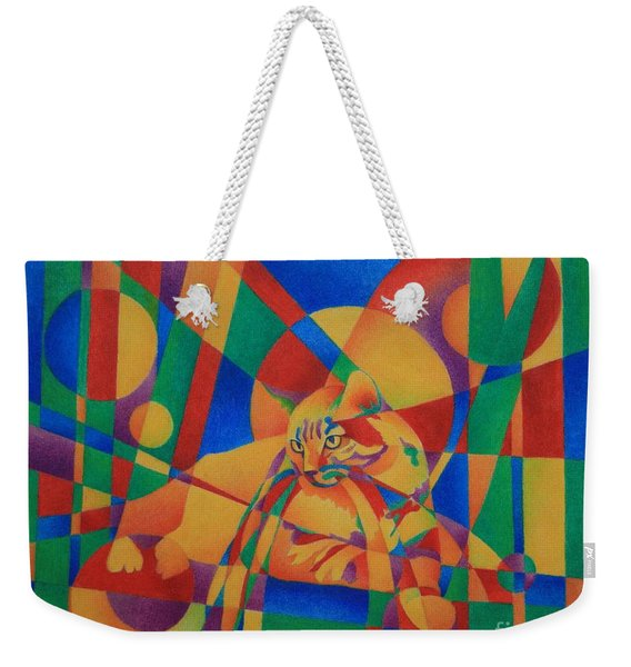 Primary Cat IIi Weekender Tote Bag
