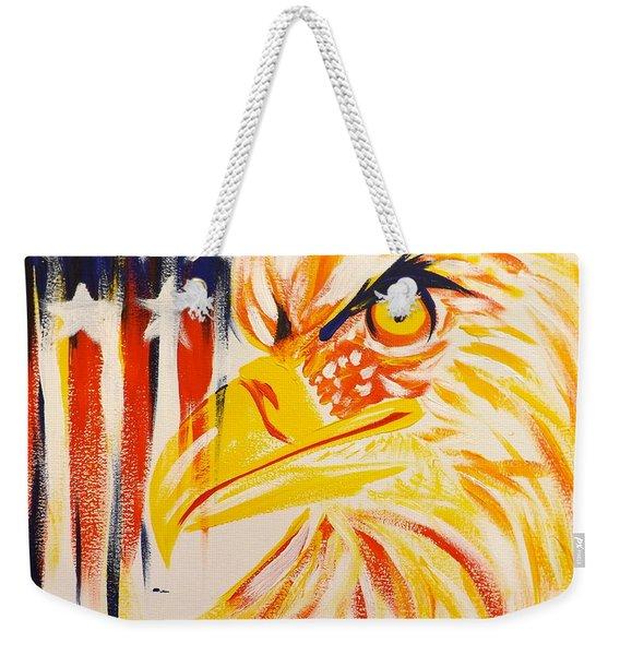 Primary Eagle Weekender Tote Bag