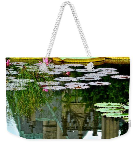 Prince Charmings Lily Pond Weekender Tote Bag