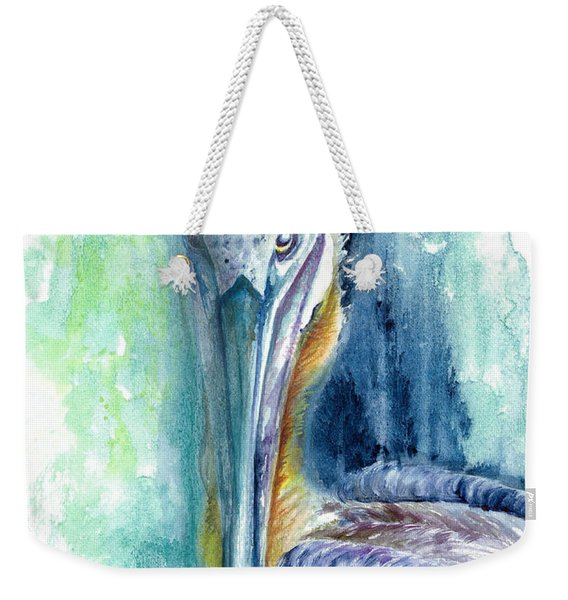 Weekender Tote Bag featuring the painting Priscilla by Ashley Kujan