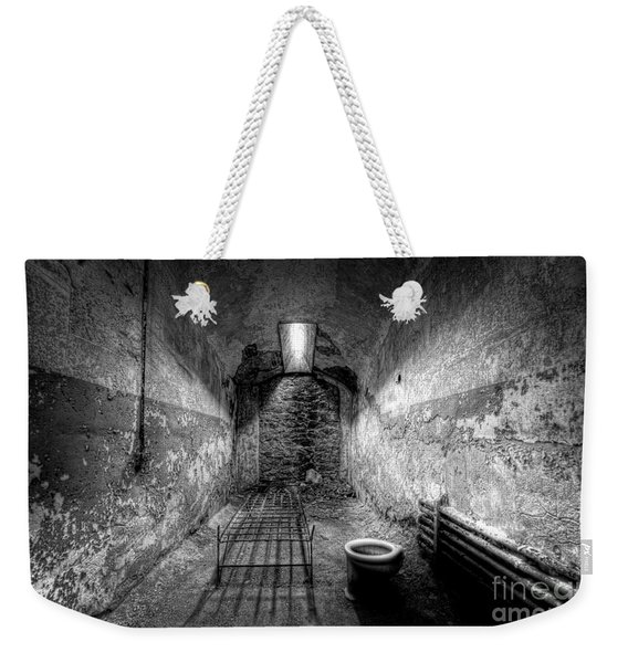 Prison Cell Black And White Weekender Tote Bag