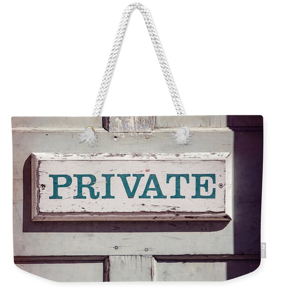 Private Doorway Weekender Tote Bag