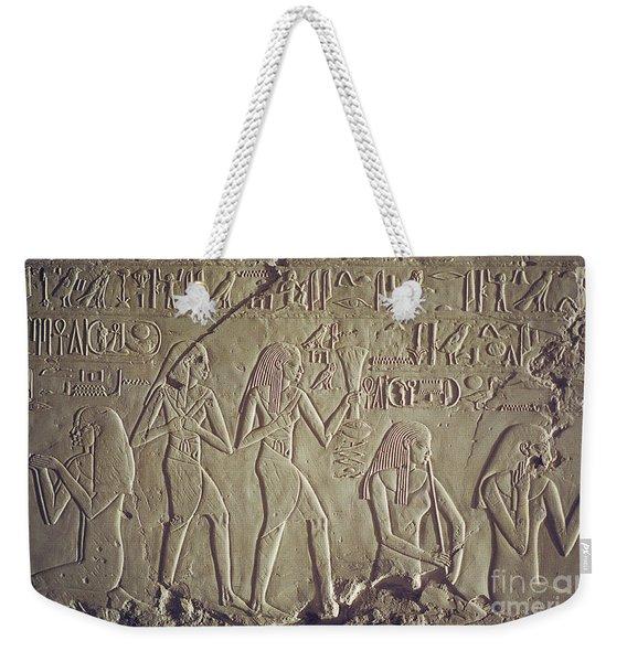 Private Tomb Of Kheruef Kheruf Cheriuf Tt 192 Asasif-stock Image-fine Art Print-valley Of The Kings Weekender Tote Bag