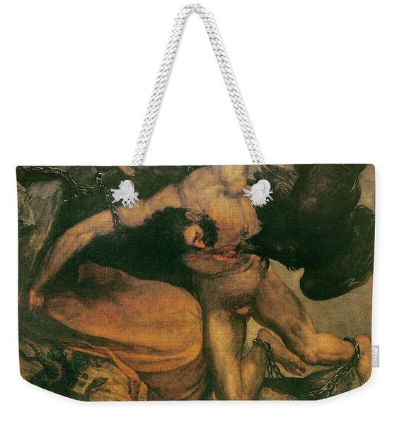 Prometheus Oil On Canvas Weekender Tote Bag