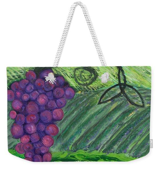 Prophetic Message Sketch 18 Vineyard Infinity Trinity Weekender Tote Bag