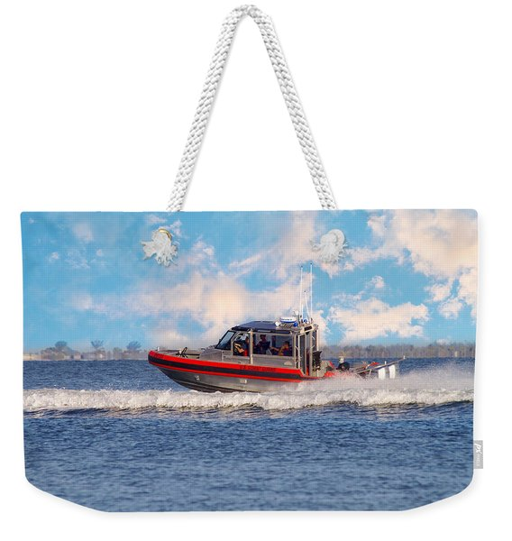 Protecting Our Waters - Coast Guard Weekender Tote Bag