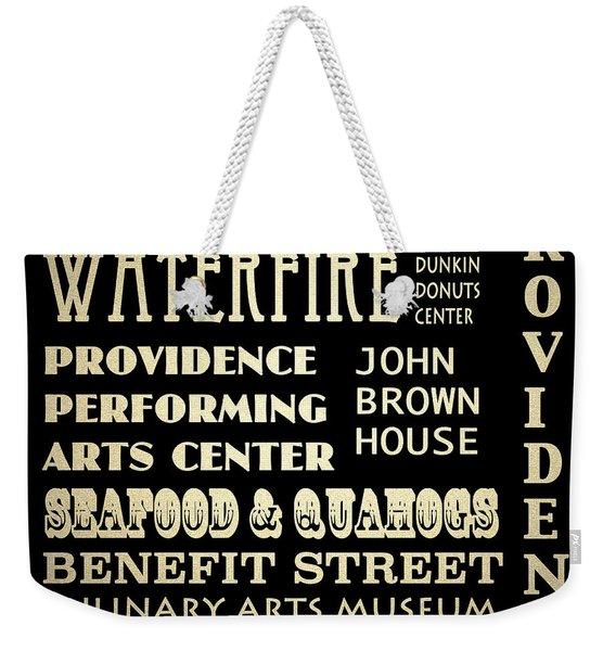 Providence Rhode Island Famous Landmarks Weekender Tote Bag