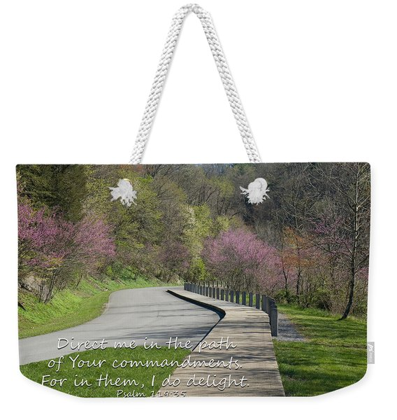 Psalm 119 Direct Me In The Path Weekender Tote Bag