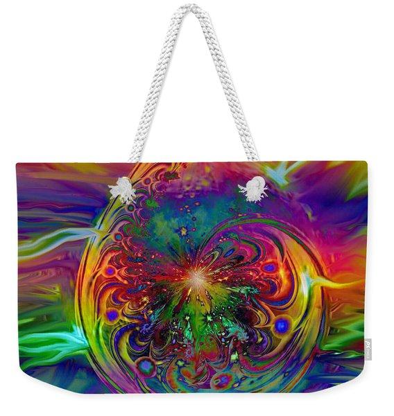 Psychedelic Beams Of Light Weekender Tote Bag