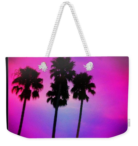 Psychedelic Palms Weekender Tote Bag