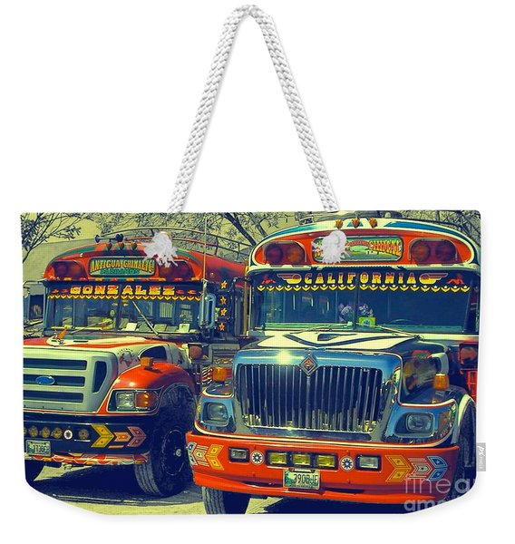 Public Transportation Pride Weekender Tote Bag