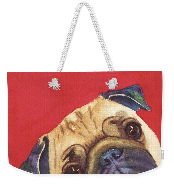 Pug 2 Weekender Tote Bag