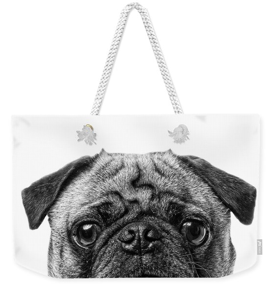 Pug Dog Square Format Weekender Tote Bag