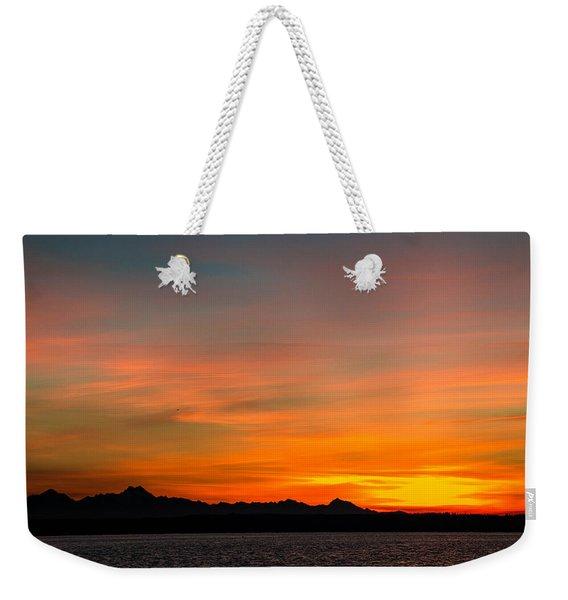 Puget Sound In Color Weekender Tote Bag