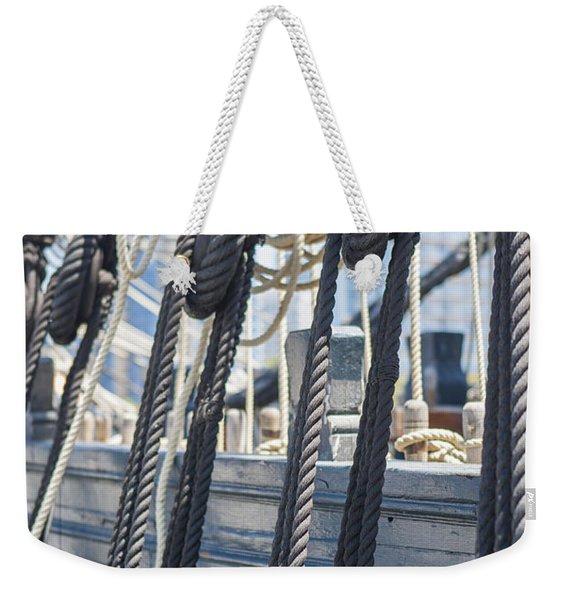 Pulley And Stay Weekender Tote Bag
