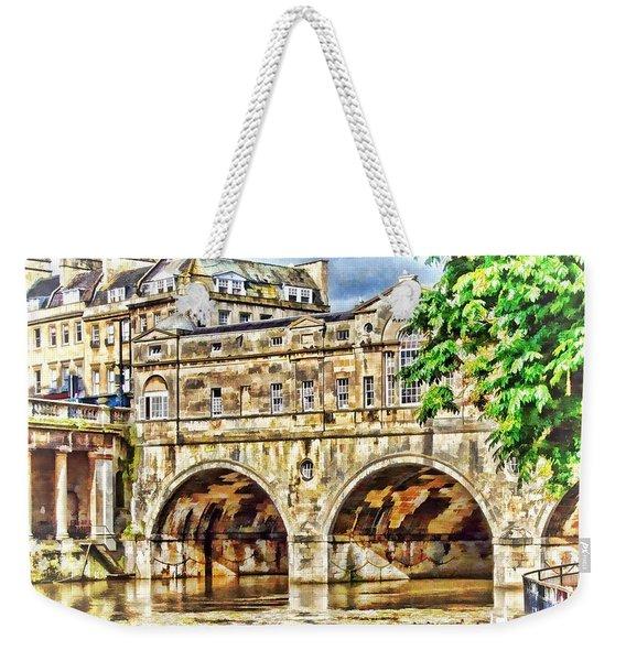 Pulteney Bridge Bath Weekender Tote Bag
