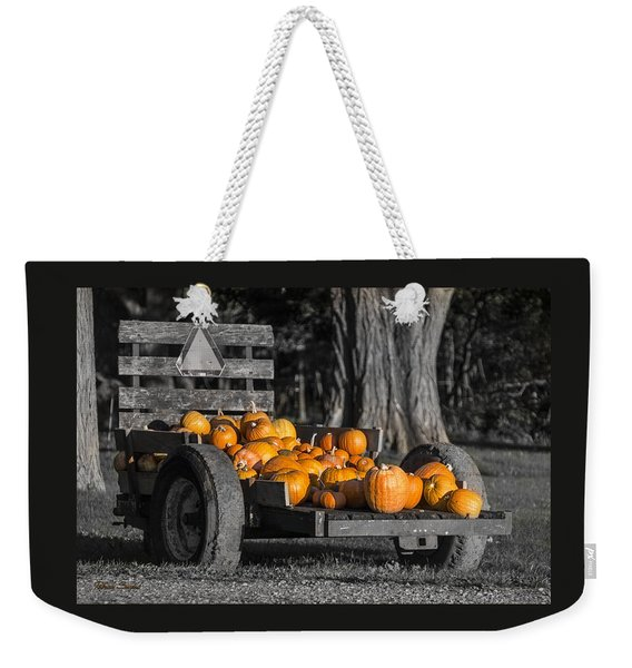 Pumpkin Cart Weekender Tote Bag