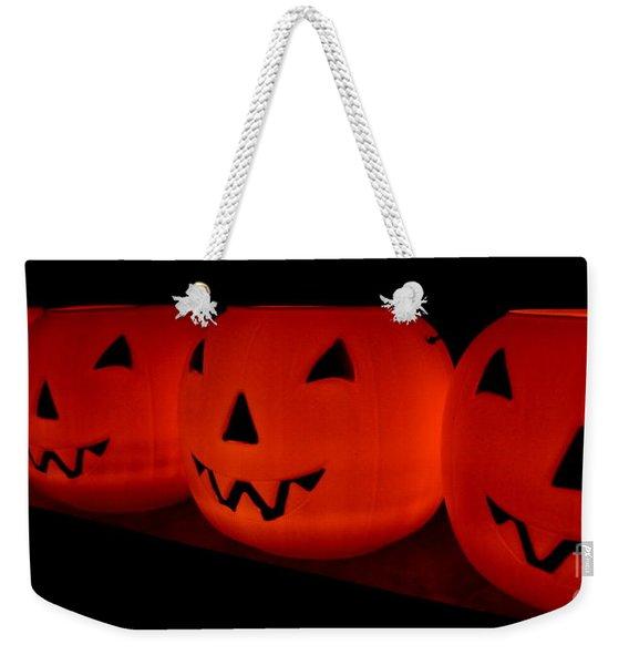 Pumpkins Lined Up Weekender Tote Bag
