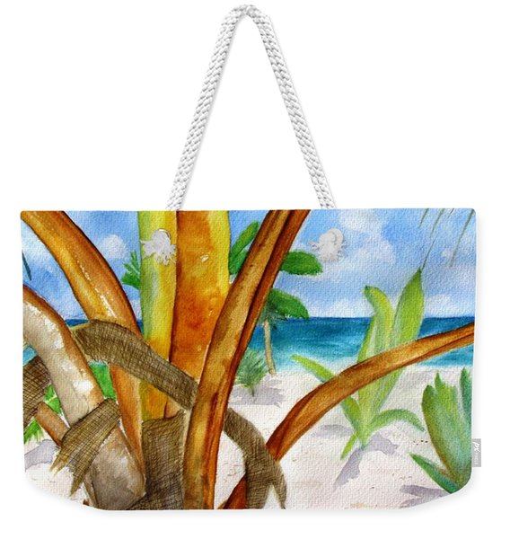 Punta Cana Beach Palm Weekender Tote Bag