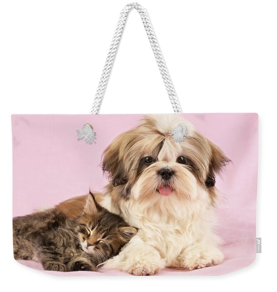 Puppy And Kitten Weekender Tote Bag