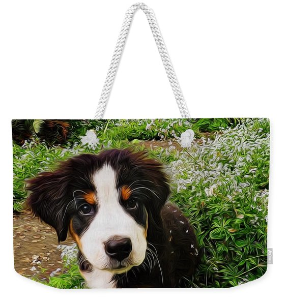 Puppy Art - Little Lily Weekender Tote Bag