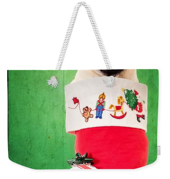Puppy For Christmas Weekender Tote Bag