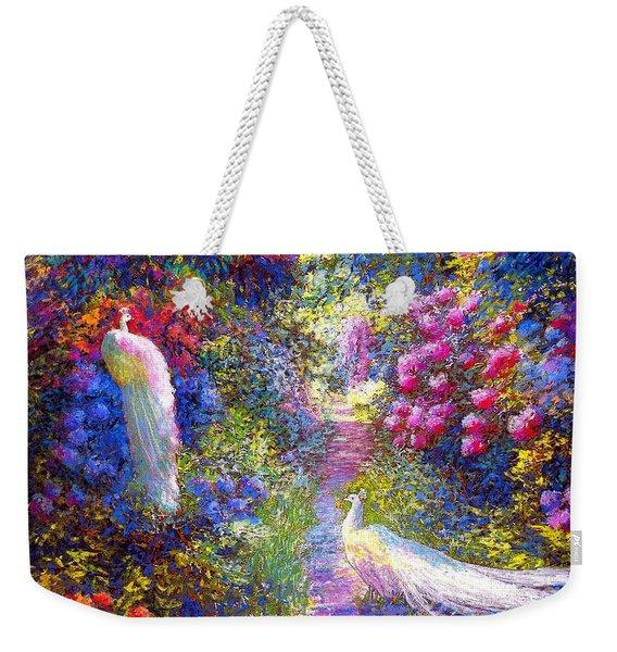 White Peacocks, Pure Bliss Weekender Tote Bag