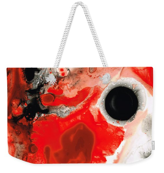 Pure Passion - Red And Black Art Painting Weekender Tote Bag