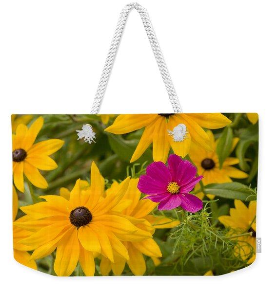 Purple And Yellow Flowers Weekender Tote Bag