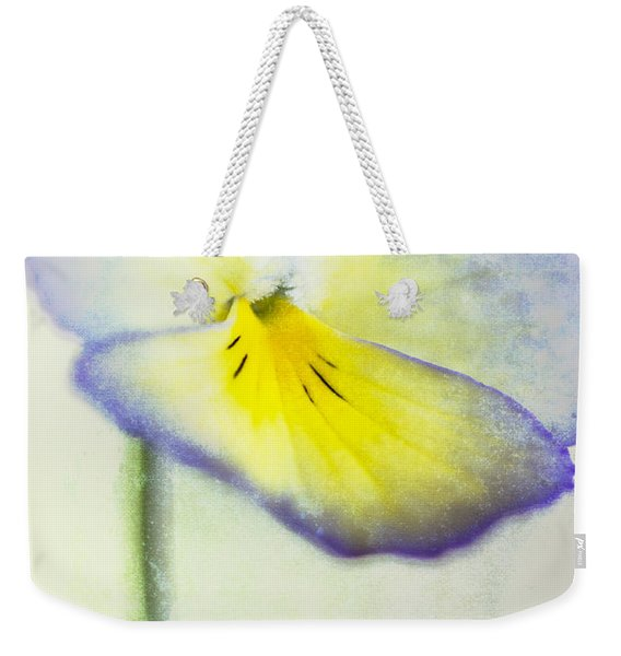 Purple And Yellow Pansy Weekender Tote Bag
