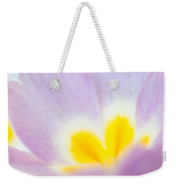 Purple And Yellow Primrose Petals - Bright And Soft Spring Flower Weekender Tote Bag