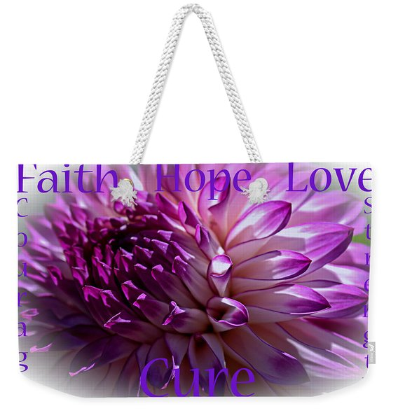 Purple Awareness Support Weekender Tote Bag