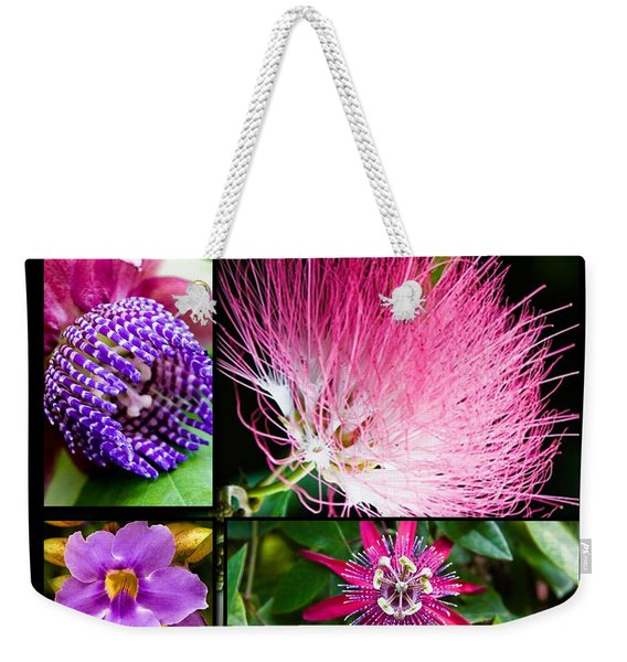 Purple Bouquet Weekender Tote Bag