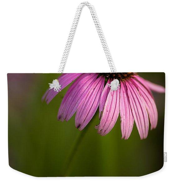 Purple Cone Flower Portrait Weekender Tote Bag