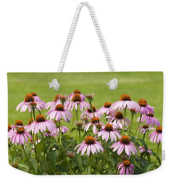 Purple Cone Flowers Weekender Tote Bag