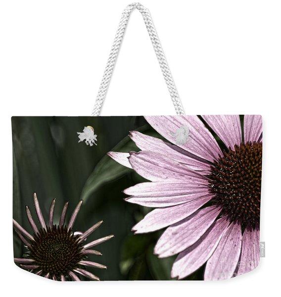 Purple Coneflower Imperfection Weekender Tote Bag