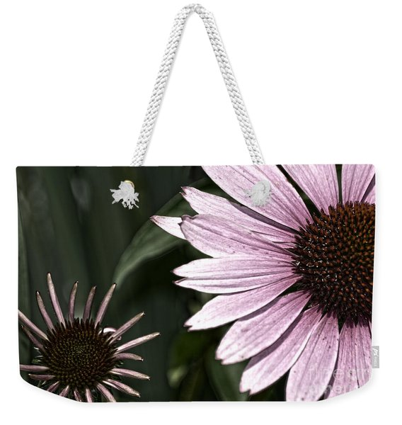 Purple Coneflower Imperfection Weekender Tote Bag