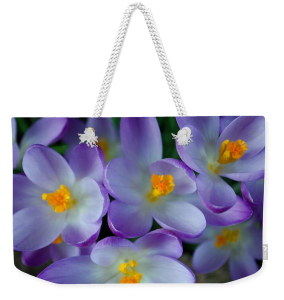 Purple Crocus Gems Weekender Tote Bag
