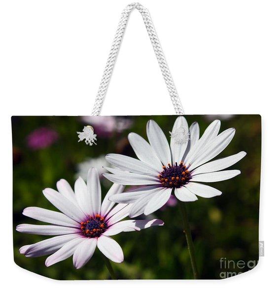 Purple Daisies Weekender Tote Bag