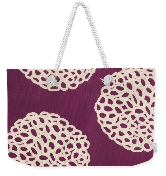 Purple Garden Bloom Weekender Tote Bag