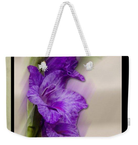 Purple Gladiolus Bloom Weekender Tote Bag