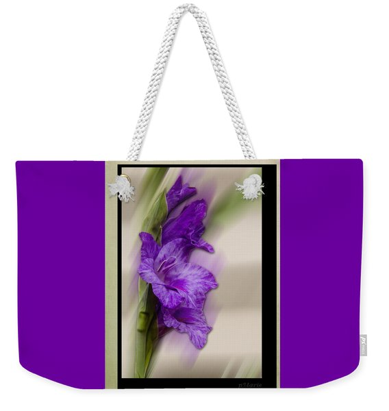 Purple Gladiolus Bloom Weekender Tote Bag