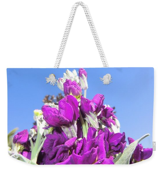 Purple Glow 2 Weekender Tote Bag